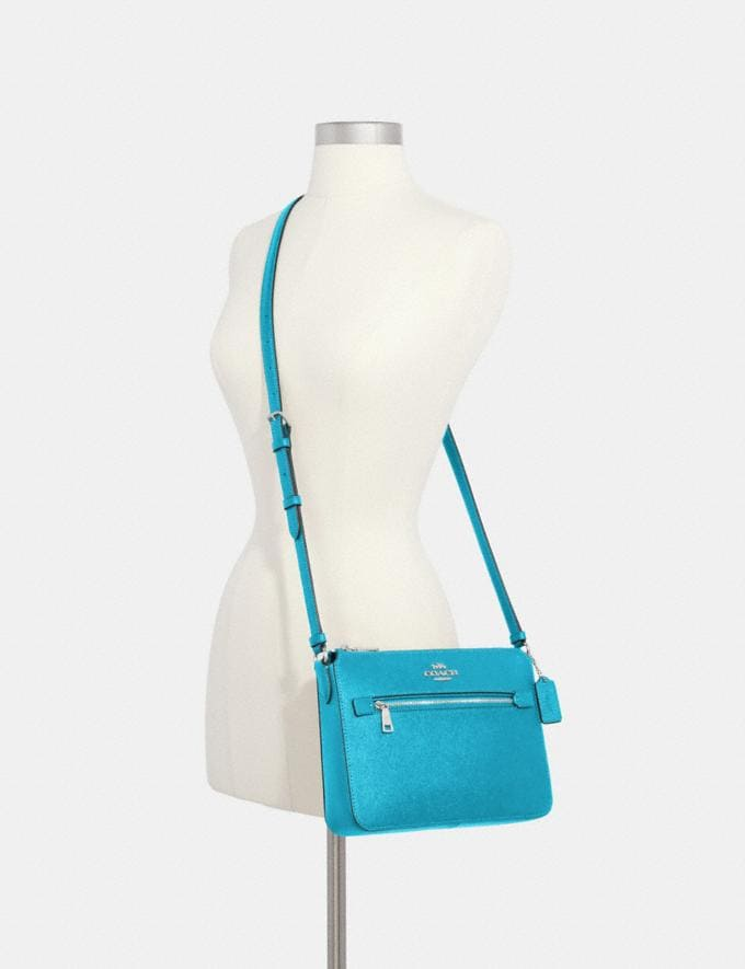 Coach Gallery File Bag Sv/Aqua  Alternate View 2