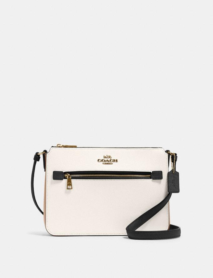 Coach Gallery File Bag in Colorblock Sv/Light Blush Multi Women Bags