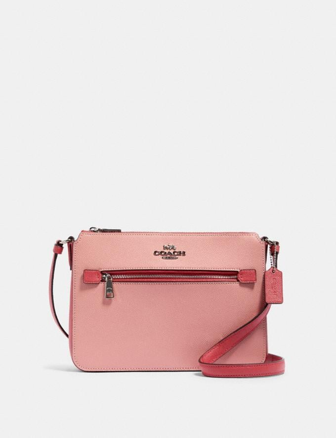Coach Gallery File Bag in Colorblock Sv/Light Blush Multi