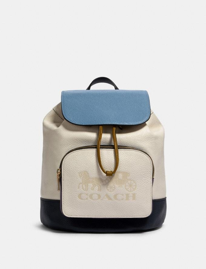 Coach Jes Backpack in Colorblock Im/Chalk Multi