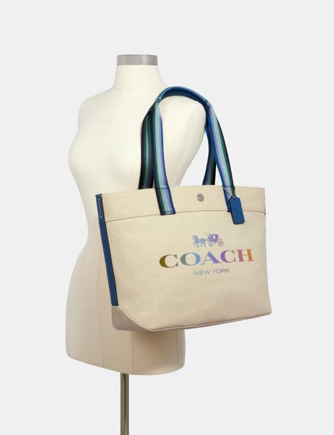 Coach Tote With Coach Sv/Natural  Alternate View 2