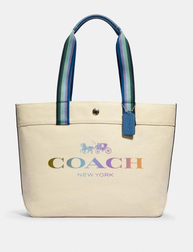 Coach Tote With Coach Sv/Natural