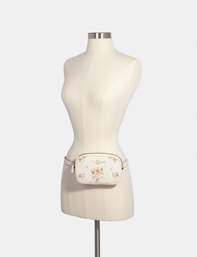 Coach Convertible Belt Bag With Rose Bouquet Print Sv/Midnight Multi  Alternate View 3