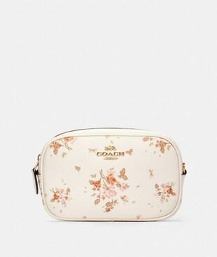 CONVERTIBLE BELT BAG WITH ROSE BOUQUET PRINT