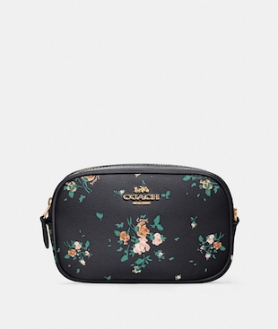 CONVERTIBLE BELT BAG WITH ROSE BOUQUET PRINT
