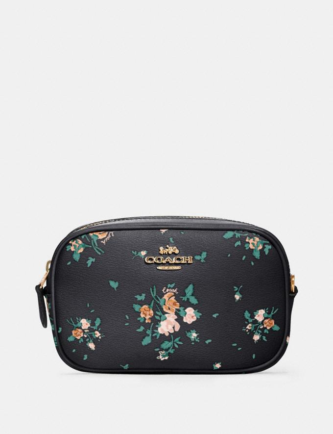 Coach Convertible Belt Bag With Rose Bouquet Print Sv/Midnight Multi