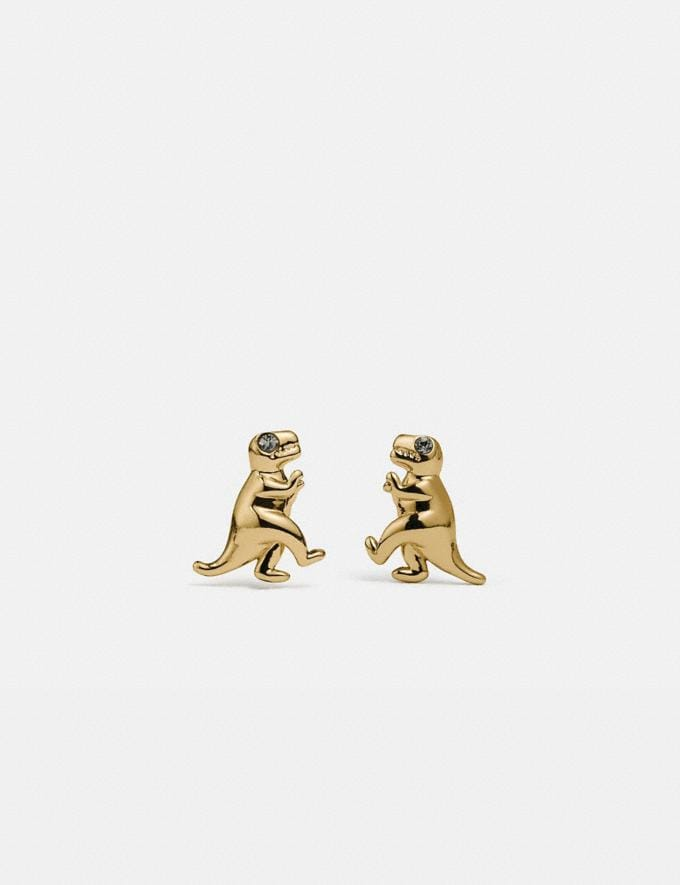 Coach Rexy Stud Earrings Gold Women Accessories Jewelry & Watches