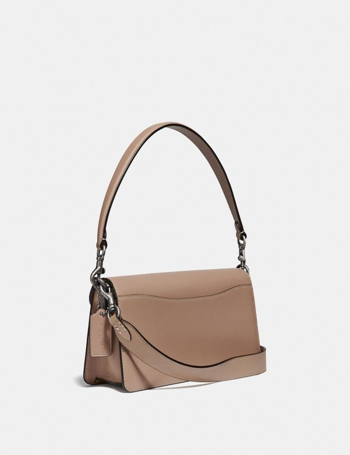 Coach Tabby Shoulder Bag 26 With Signature Canvas Light Nickel/Sand Taupe Women Edits Party Alternate View 1