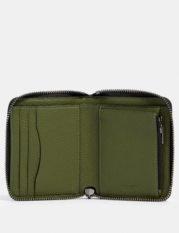 Coach Medium Zip Around Wallet in Colorblock With Coach Patch Qb/Green Multi Men Alternate View 1