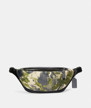 WARREN BELT BAG WITH WATERCOLOR SCRIPT PRINT