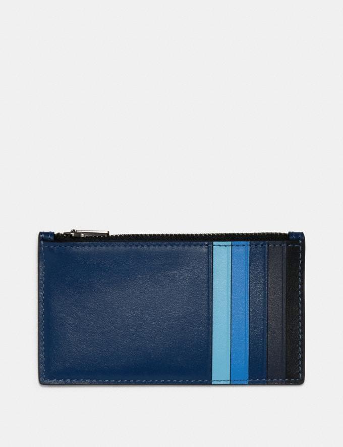 Coach Zip Card Case in Colorblock Qb/Blue Multi  Alternate View 1