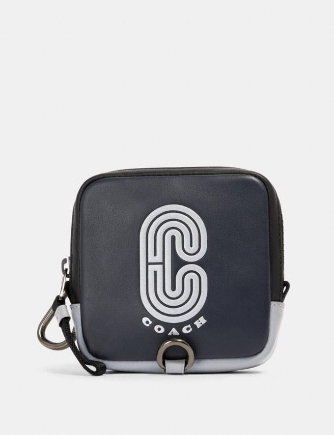Coach Square Hybrid Pouch With Reflective Coach Patch Qb/Midnight Navy Multi