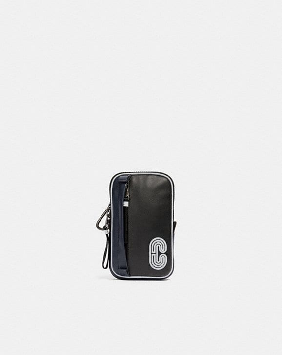 Coach NORTH/SOUTH HYBRID POUCH WITH REFLECTIVE COACH PATCH