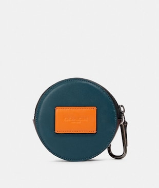 ROUND HYBRID POUCH IN COLORBLOCK