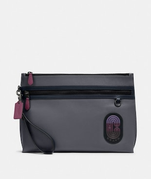 CARRYALL POUCH IN COLORBLOCK WITH COACH PATCH