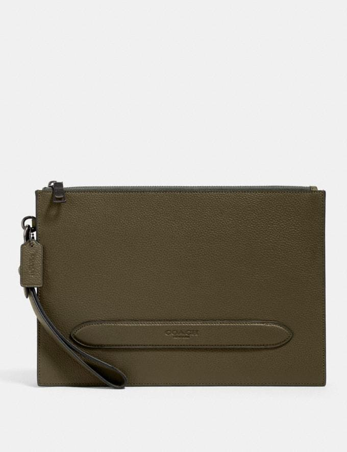 Coach Structured Pouch Qb/Industrial Grey