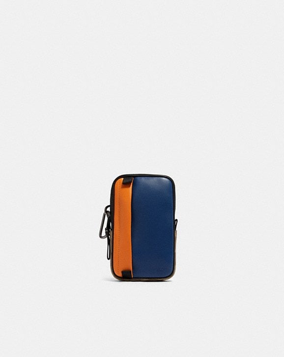 Coach NORTH/SOUTH HYBRID POUCH IN COLORBLOCK SIGNATURE CANVAS