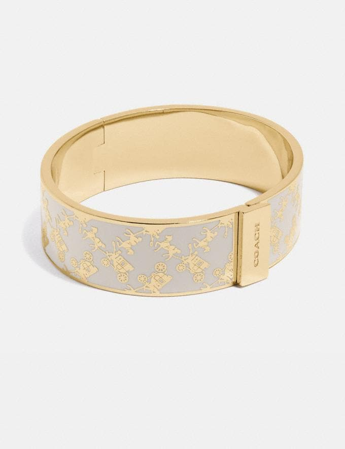 Coach Horse and Carriage Bangle Gold/Chalk New Women's New Arrivals Accessories