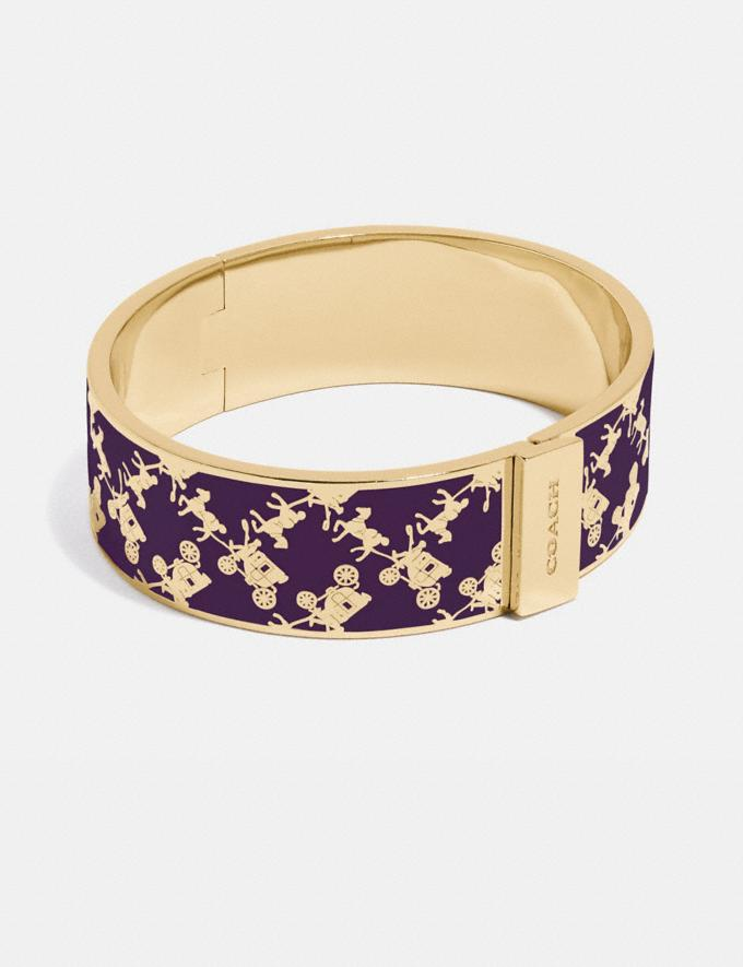 Coach Horse and Carriage Bangle Gold/Purple Women Accessories Jewelry & Watches
