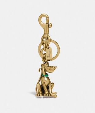 DISNEY X COACH PLUTO BAG CHARM