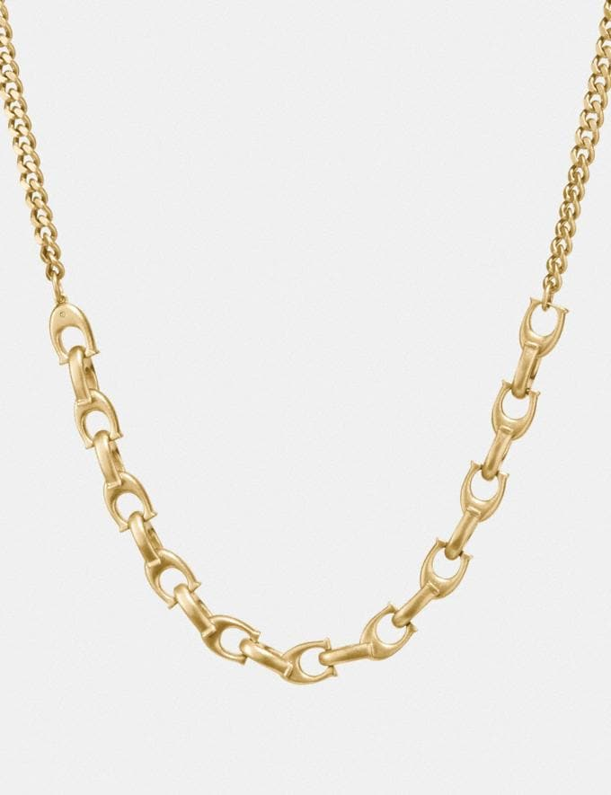 Coach Sculpted Signature Necklace Gold