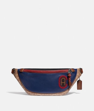 RIVINGTON BELT BAG IN SIGNATURE CANVAS WITH COACH PATCH