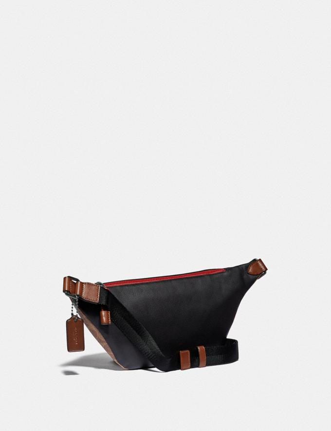 Coach Rivington Belt Bag in Signature Canvas With Coach Patch Black Copper/Khaki/True Navy SALE Men's Sale Alternate View 1