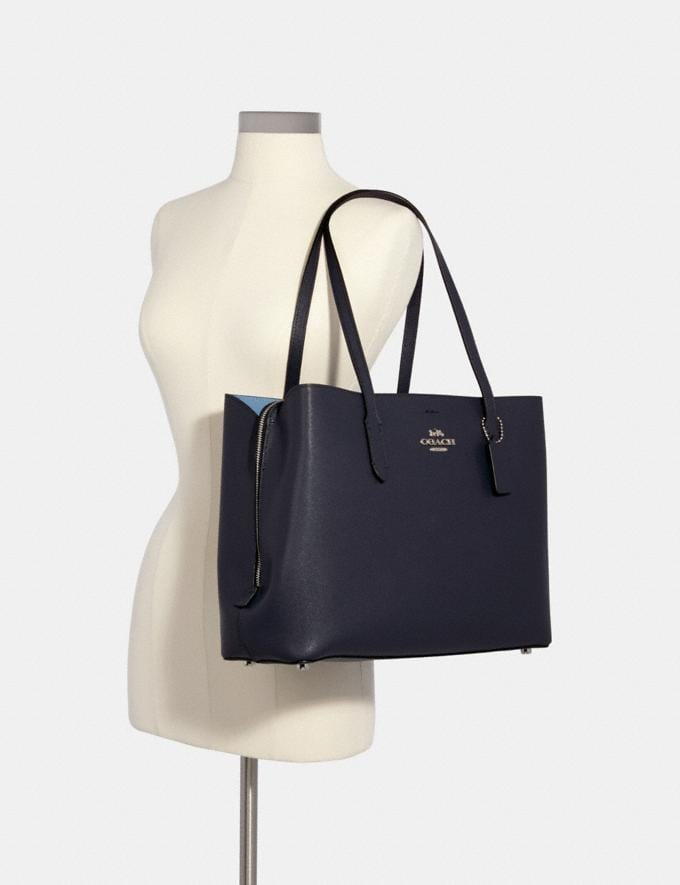 Coach Large Avenue Carryall Sv/Midnight/Slate Women Bags Alternate View 2