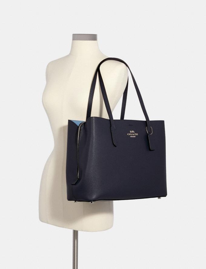 Coach Large Avenue Carryall Sv/Midnight/Slate Women Business Essentials Alternate View 2