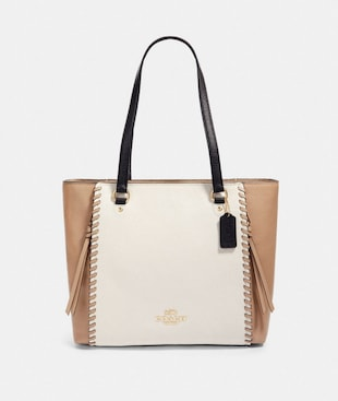 MARLON TOTE IN COLORBLOCK WITH WHIPSTITCH