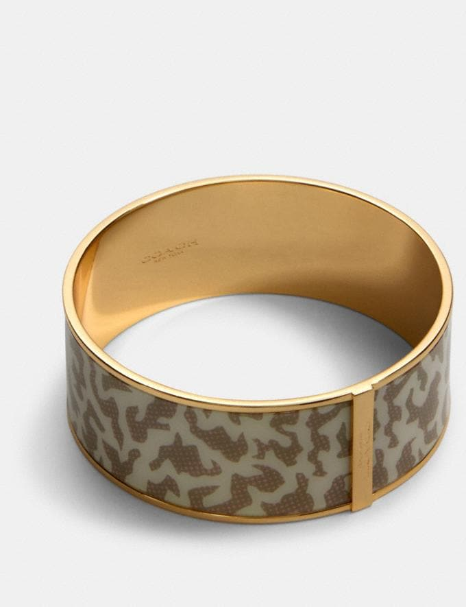 Coach Animal Print Bangle Gd/Chalk