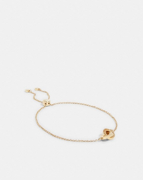Coach INTERLOCKING OPEN CIRCLE SLIDER BRACELET