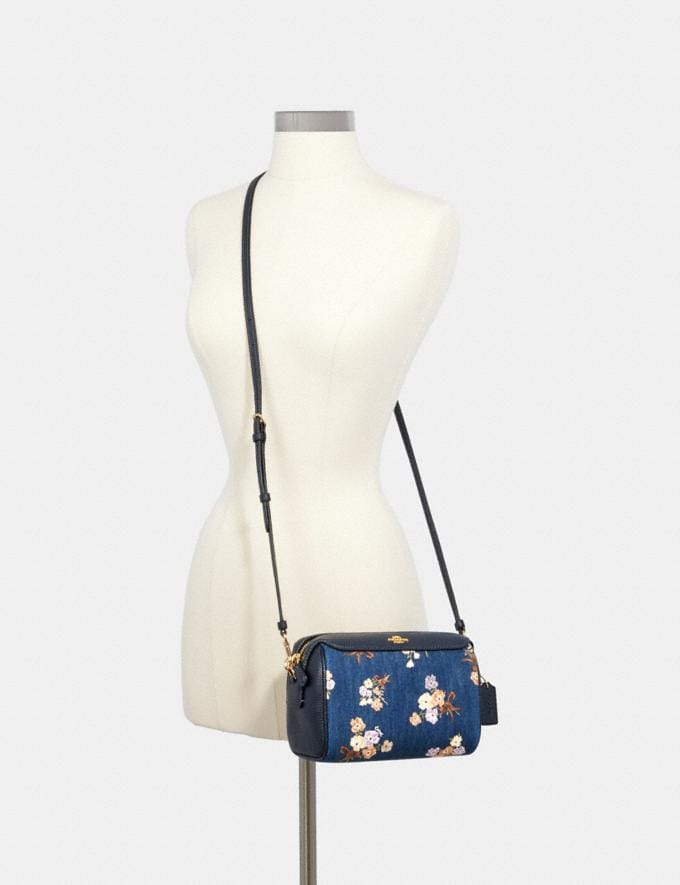 Coach Bennett Crossbody With Painted Floral Box Print Im/Denim Multi  Alternate View 2