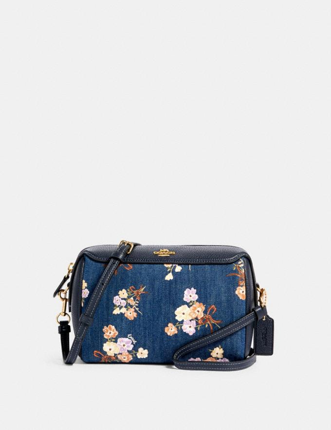 Coach Bennett Crossbody With Painted Floral Box Print Im/Denim Multi
