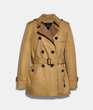 SIGNATURE LAPEL SHORT TRENCH