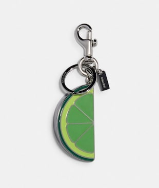 LIME SLICE BAG CHARM