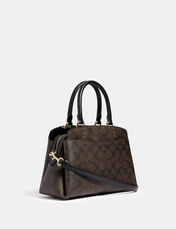 Coach Mini Lillie Carryall in Signature Canvas Im/Brown Black DEFAULT_CATEGORY Alternate View 1