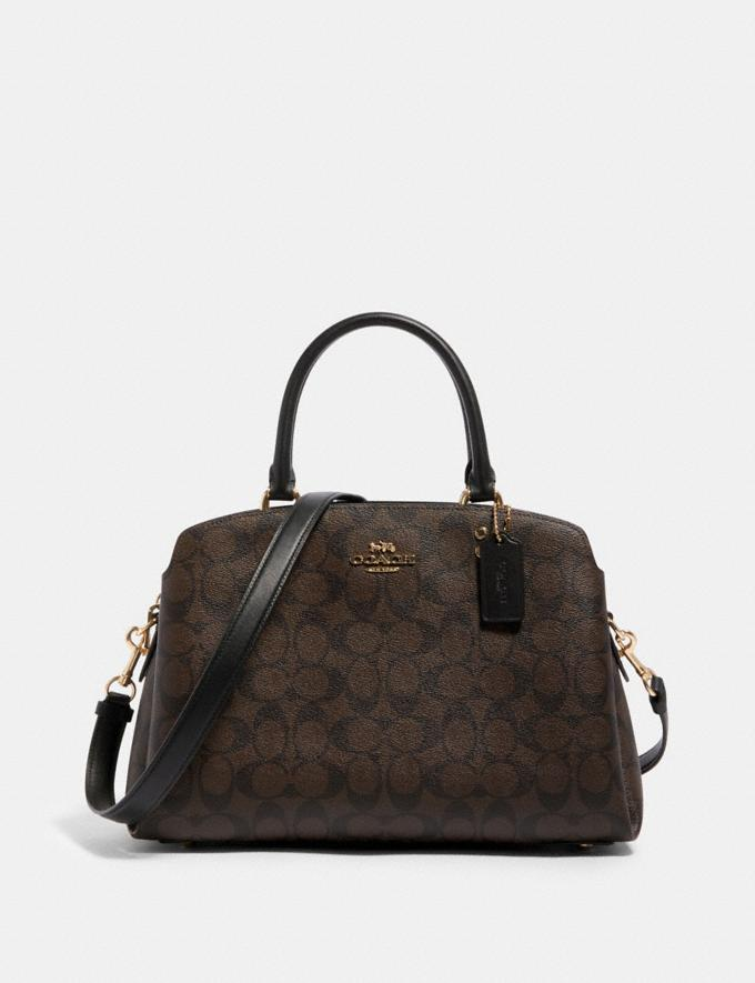 Coach Lillie Carryall in Signature Canvas Im/Brown Black