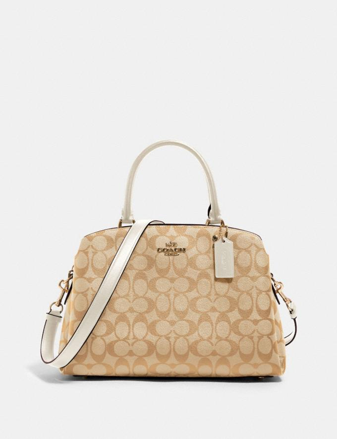 Coach Lillie Carryall in Signature Canvas Im/Light Khaki Chalk Deals Just Reduced