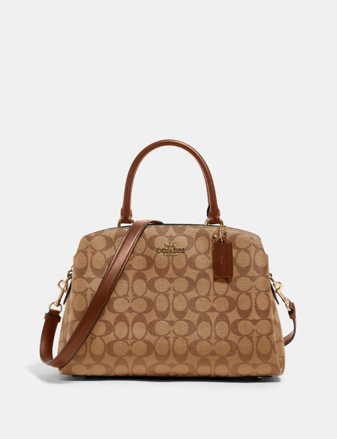 Coach Lillie Carryall in Signature Canvas Im/Khaki Saddle 2 Deals Just Reduced