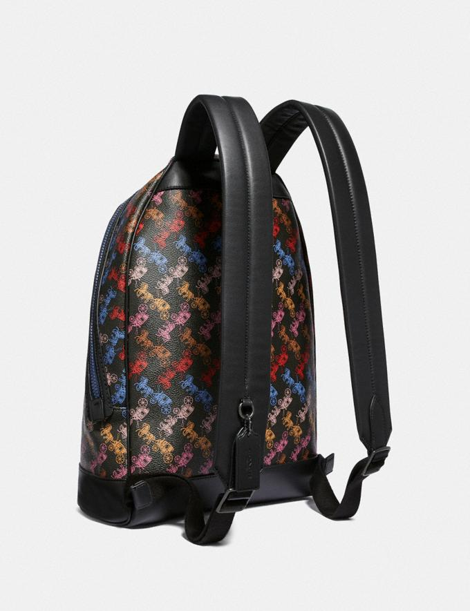 Coach Barrow Backpack With Horse and Carriage Print Ji/Black Multi Men Bags Backpacks Alternate View 1