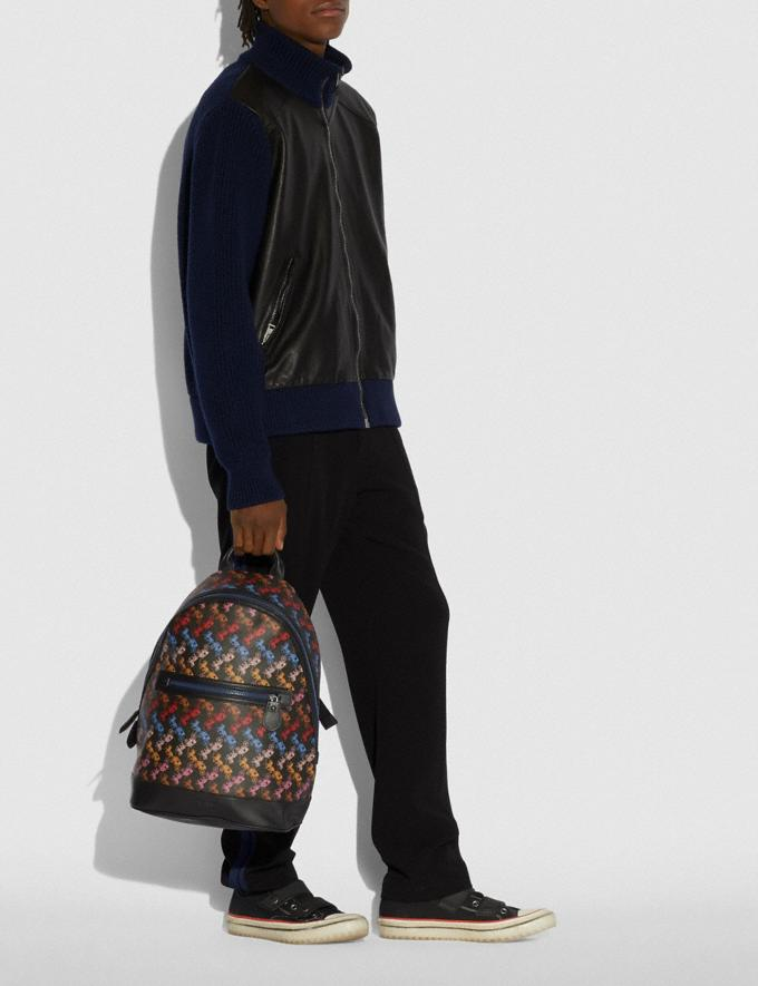 Coach Barrow Backpack With Horse and Carriage Print Ji/Black Multi Men Bags Backpacks Alternate View 3