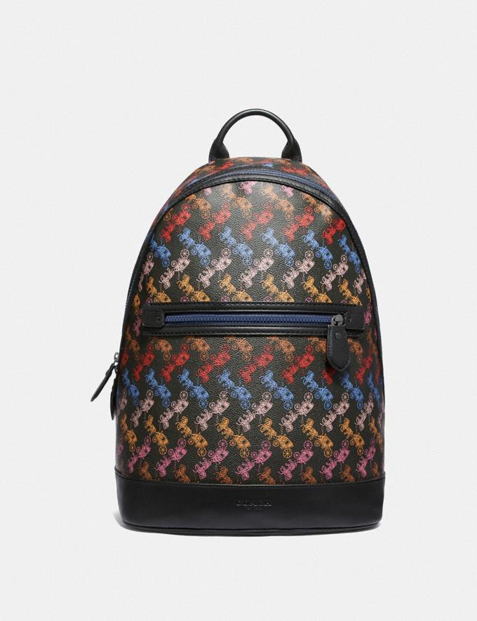 Coach Barrow Backpack With Horse and Carriage Print Ji/Black Multi Men Bags Backpacks