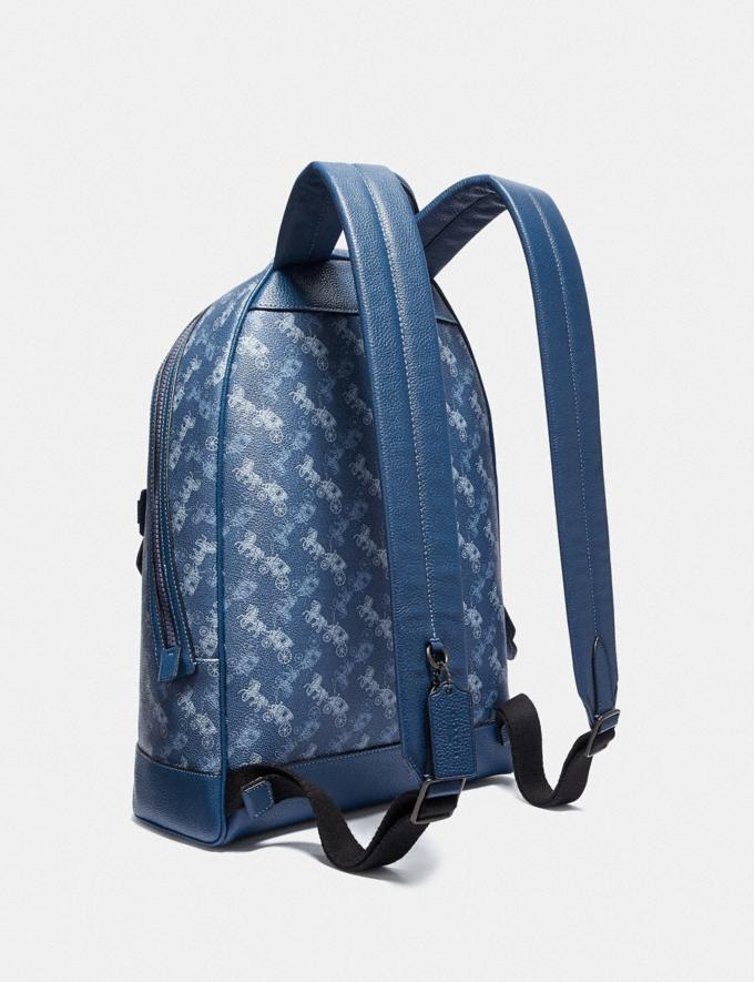 Coach Barrow Backpack With Horse and Carriage Print Black Copper/True Blue New Men's New Arrivals Bags Alternate View 1