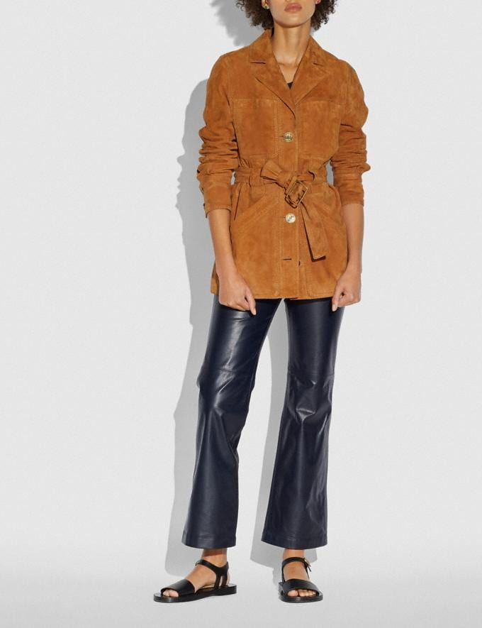 Coach Suede Trench Jacket Canyon Women Ready-to-Wear Alternate View 1