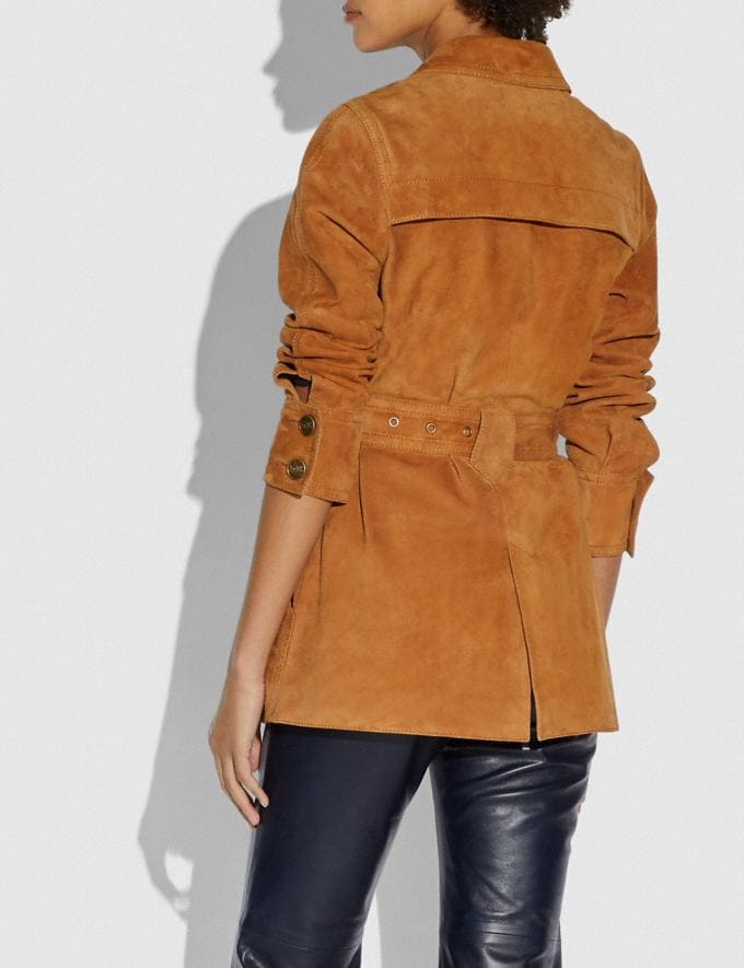 Coach Suede Trench Jacket Canyon Women Ready-to-Wear Alternate View 2