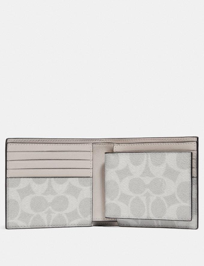 Coach 3-In-1 Wallet With Signature Canvas Interior Bone/Chalk Men Wallets Billfolds Alternate View 1