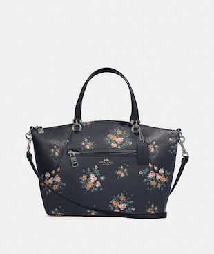 PRAIRIE SATCHEL WITH ROSE BOUQUET PRINT