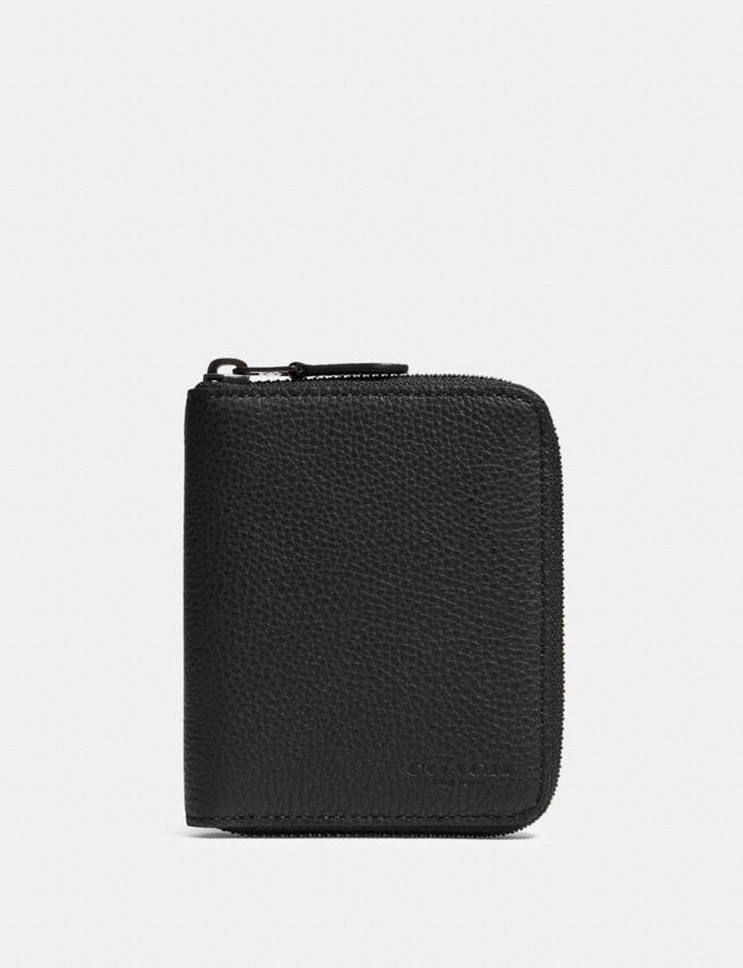 Coach Medium Zip Around Wallet Qb/Black DEFAULT_CATEGORY