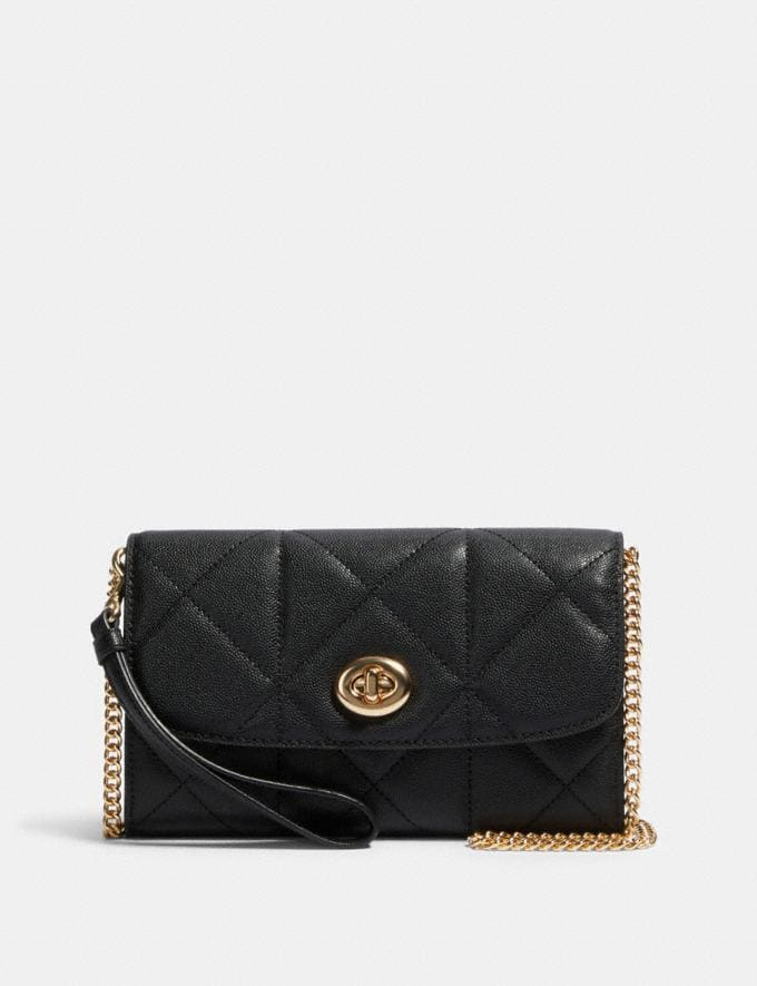 Coach Chain Crossbody With Quilting Im/Black
